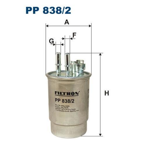 FILTR PALIWA FILTRON PP 838/2