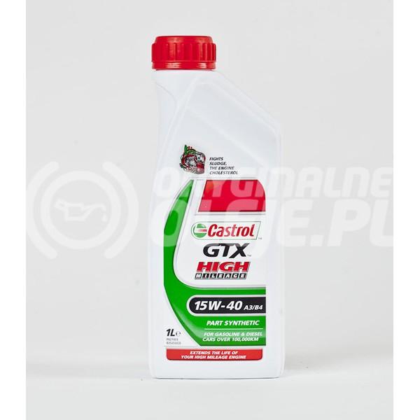 CASTROL GTX HIGH MILEAGE 15W-40 1L