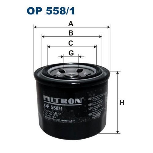FILTR OLEJU FILTRON OP 558/1