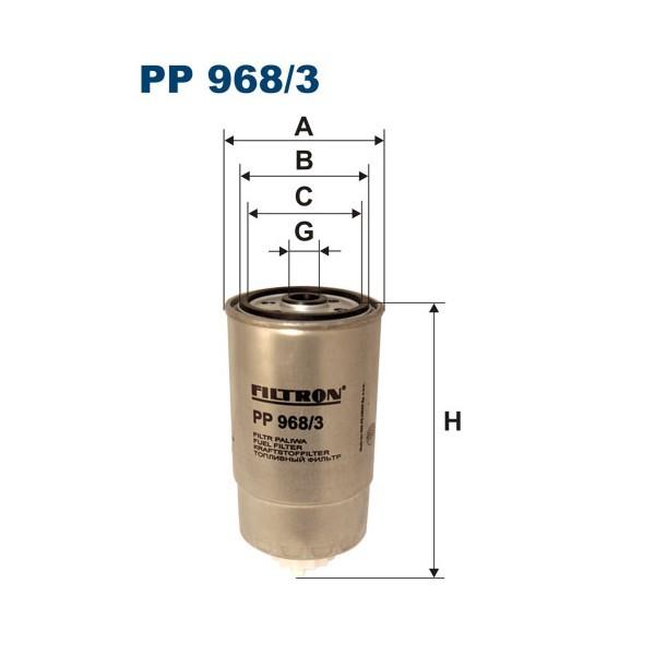 FILTR PALIWA FILTRON PP 968/3