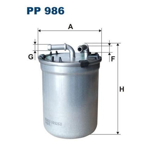 FILTR PALIWA FILTRON PP 986/1