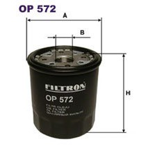 FILTRON filtr oleju OP 572