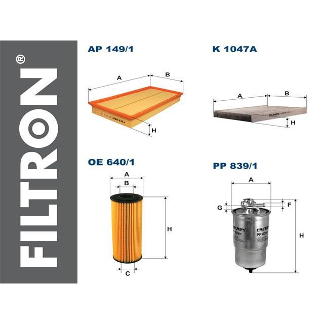 VW GOLF IV 1.9 TDI zestaw filtrów Filtron