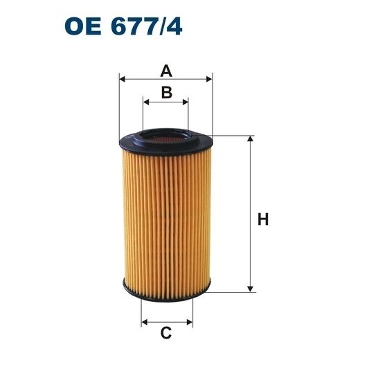 FILTRON filtr oleju OE 677/4