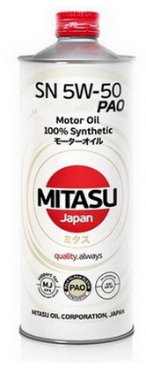 MITASU PAO SN 5W-50 1L 100% Synthetic