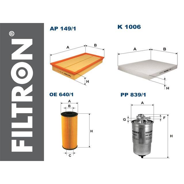 SKODA OCTAVIA I 1.9 TDI zestaw filtrów fitron