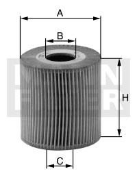 filtr oleju MANN-FILTER  HU 6013 z