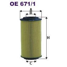 FILTRON filtr oleju OE 671/1 ( 671/3 )