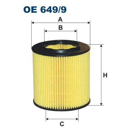FILTRON filtr oleju OE 649/9