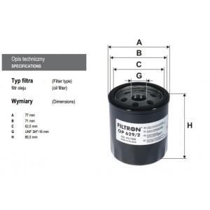 filtr oleju FILTRON OP 629/2