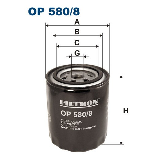 FILTRON filtr oleju OP 580/8