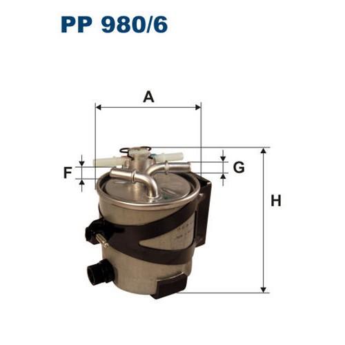 FILTR PALIWA FILTRON PP 980/6