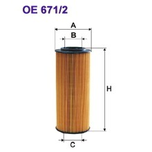FILTRON filtr oleju OE 671/2