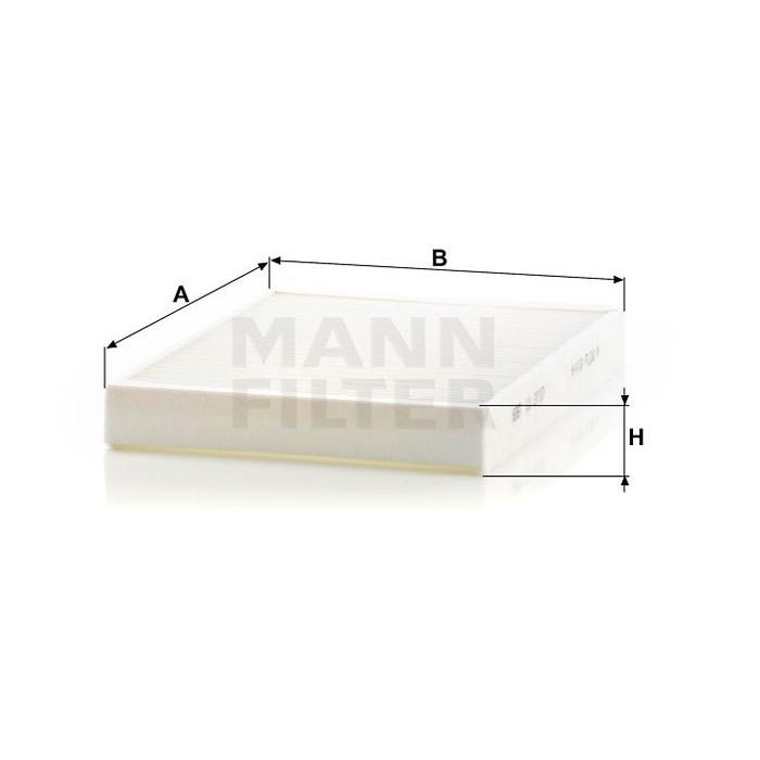 Filtr kabinowy MANN CU 2733