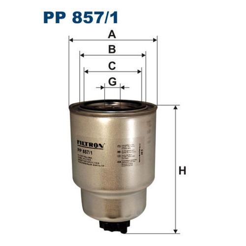 FILTR PALIWA FILTRON PP 857/1