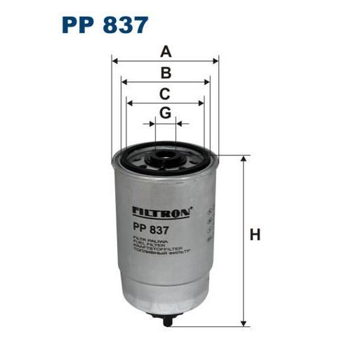 FILTR PALIWA FILTRON PP 837