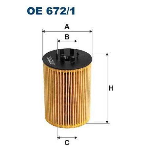 FILTRON filtr oleju OE 672/1