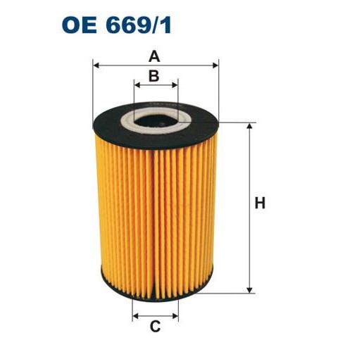 FILTRON filtr oleju OE 669/1