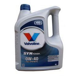VALVOLINE SynPOWER 0W-40 4L