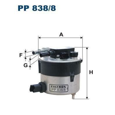 FILTR PALIWA FILTRON PP 838/8