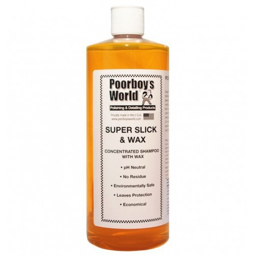 Poorboy's World Super Slick & Wax 946ml Szampon z woskiem
