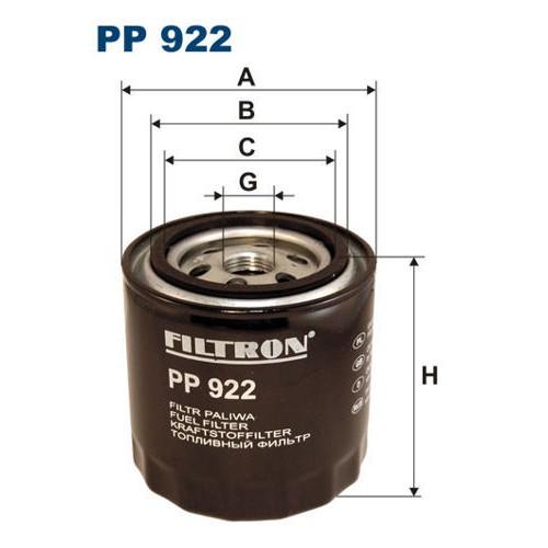FILTR PALIWA FILTRON PP 922