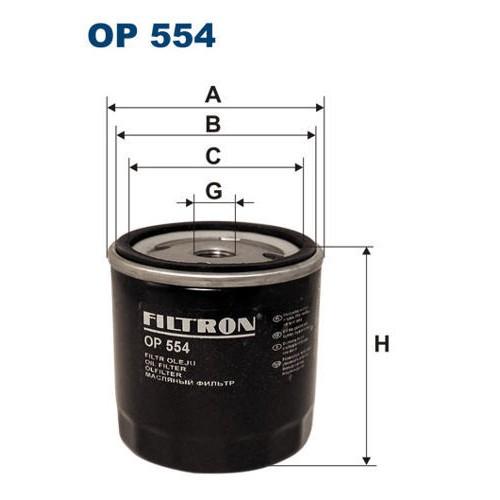 FILTR OLEJU FILTRON OP 554