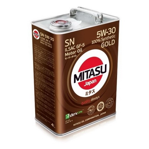 MITASU GOLD SN 5W-30 ILSAC GF-5 4L MJ-101