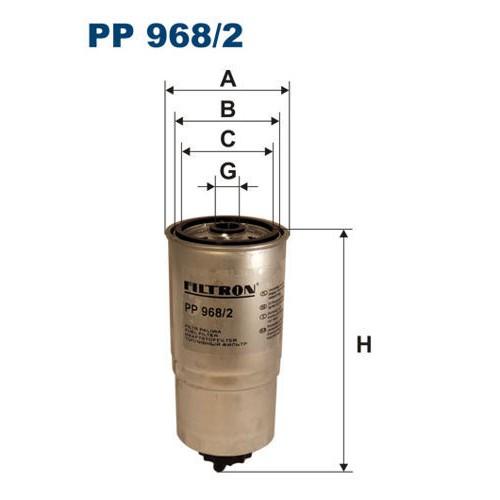 FILTR PALIWA FILTRON PP 968/2