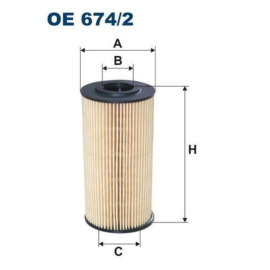 FILTRON filtr oleju OE 674/2