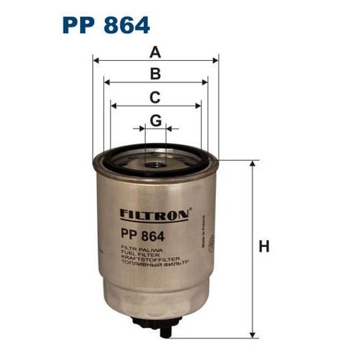 FILTR PALIWA FILTRON PP 864
