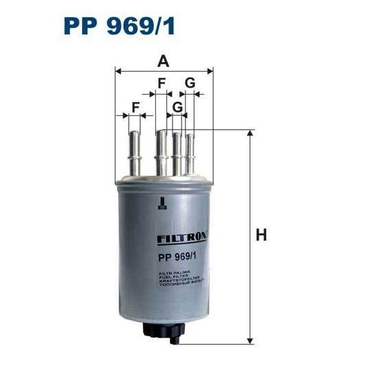 FILTR PALIWA FILTRON PP 969/1