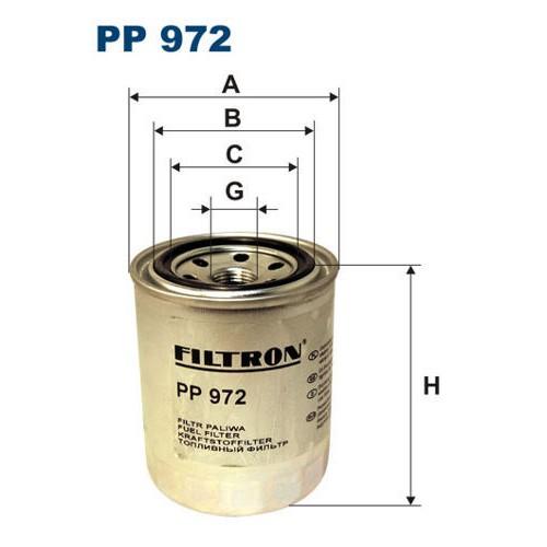 FILTR PALIWA FILTRON PP 972