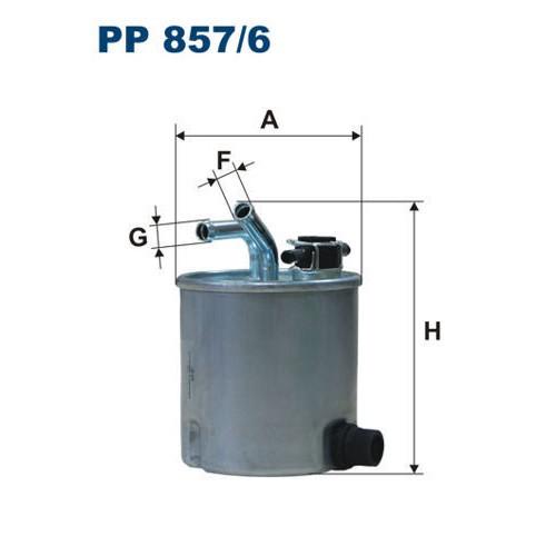 FILTR PALIWA FILTRON PP 857/6