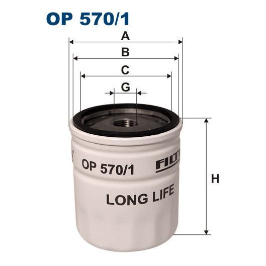 FILTRON filtr oleju OP 570/1